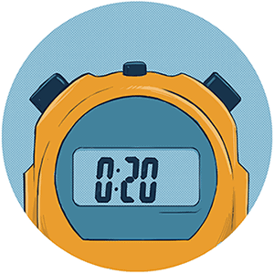 A yellow stop watch to represent performance