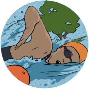 Swimming around a buoy in open water