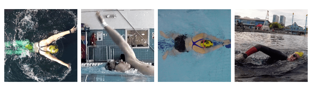 series 4 photos: Overhead fly swimmer, side on backstroke, overhead breaststroke and side on front crawl